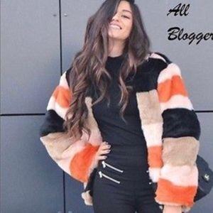 Zara multicolor aux fur